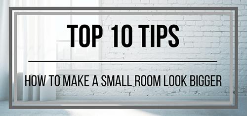 make a small room look bigger
