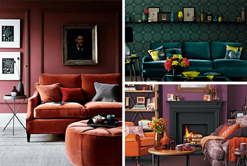 three colourful living room designs