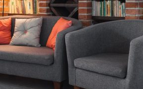 grey tub chair and sofa