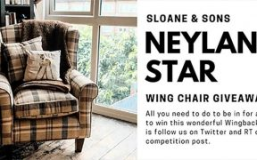 Sloane & Sons Neyland Star wing chair giveaway