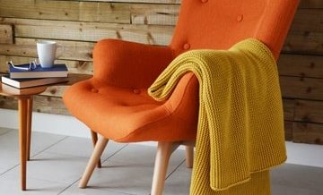 Orange Angel Chair
