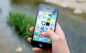 Iphone Displaying App Screen
