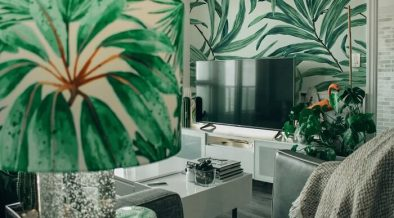 palm inspired interior decoration