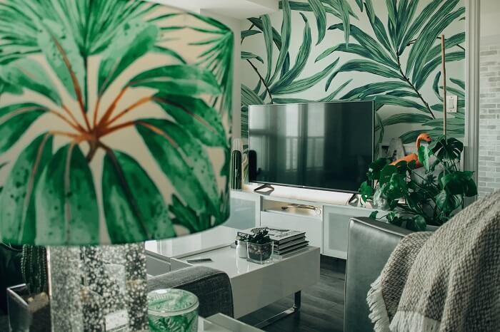 palm inspired interior decoration