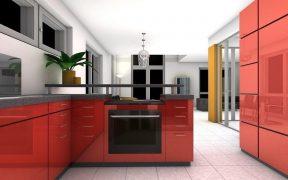 red kitchen colour scheme
