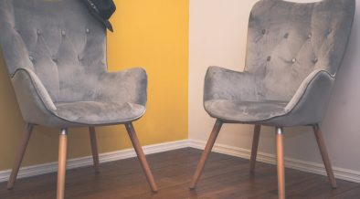 grey velvet chairs