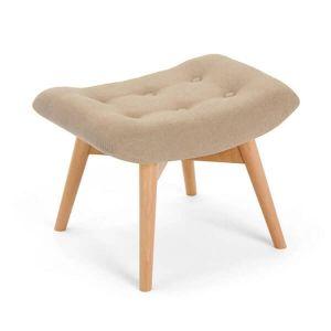 Beige Angel Chair Footstool