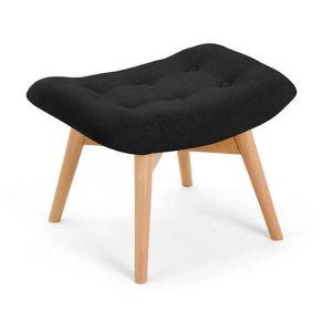 Black Angel Chair Footstool