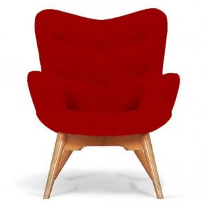 Bristol Red Fabric Angel Chair