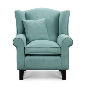 Duck Egg Fabric Wingback Chair