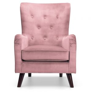 blush pink velvet chair