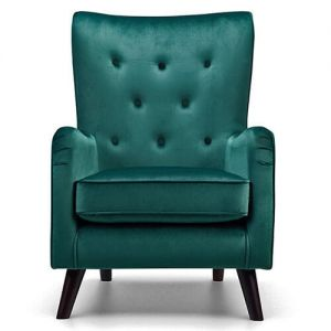Vellluto green velvet accent chair