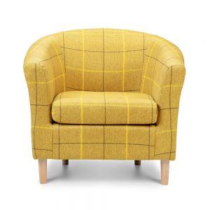Morris Mustard Tartan Tub Chair