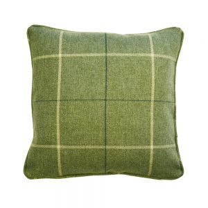 Green Morris Tartan Scatter Cushion