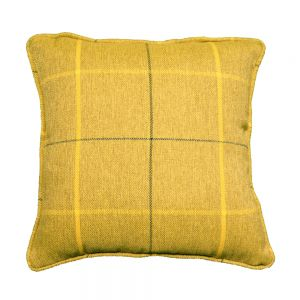 mustard morris scatter cushion