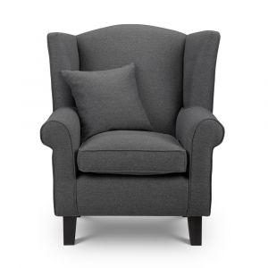 Shetland Grey Wingback Chair