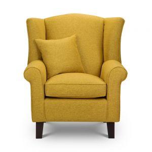Shetland mustard Wingback Chair