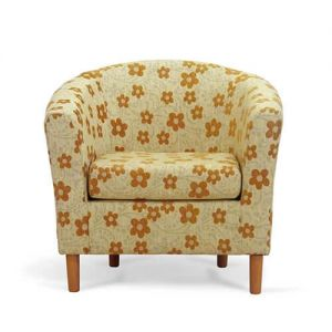 Mustard Tub Chair Front