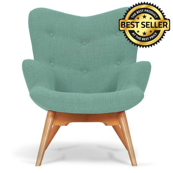 Duck Egg Fabric Angel Accent Chair
