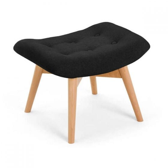 Black Angel Chair Footstool