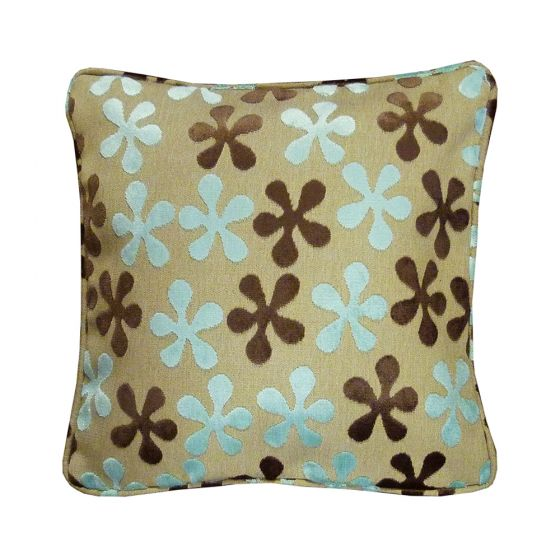 Jazz Floral Duck Egg Scatter Cushion