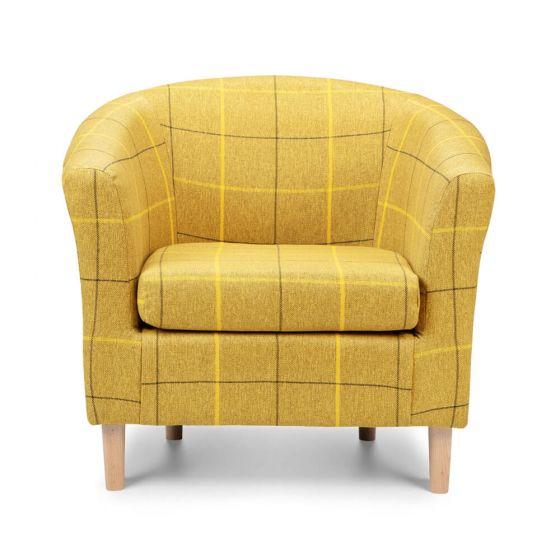 Morris Mustard Tartan Tub Chair