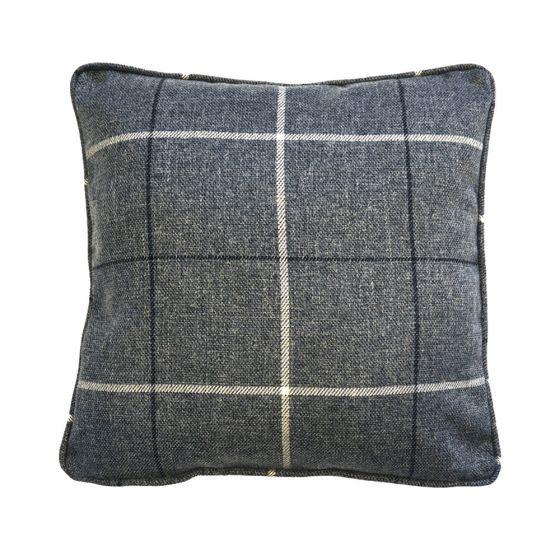 Grey Morris Tartan Scatter Cushion