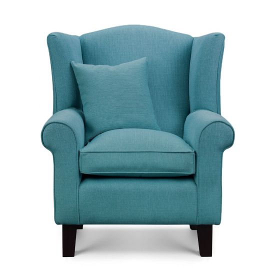 Ocean Blue Wingback Chair