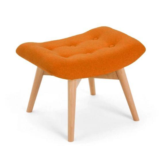 Orange Angel Chair Footstool