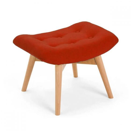 Red Angel Chair Footstool