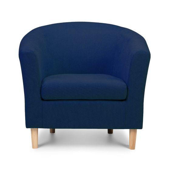 Shetland Blue Tweed Fabric Tub Chair Dims