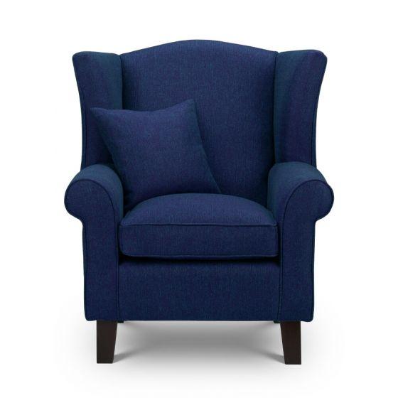 Shetland Blue Tweed Wingback chair