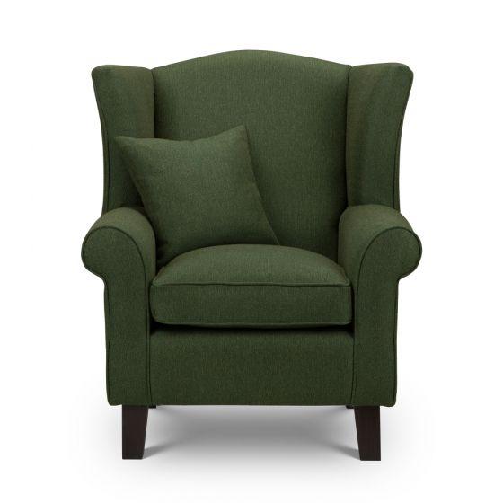 Shetland Green Wingback Chair