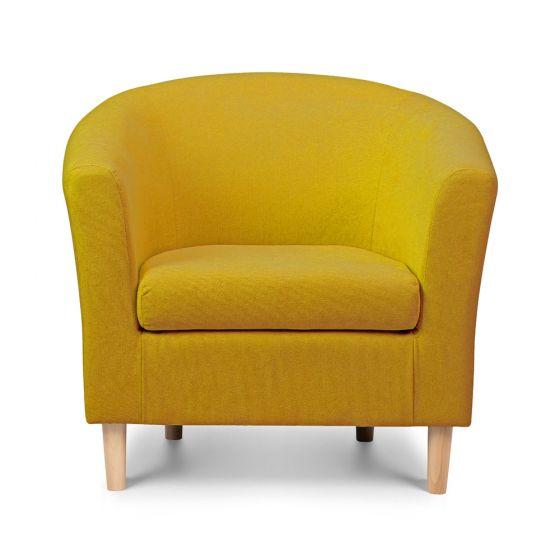 shetland mustard tub chair