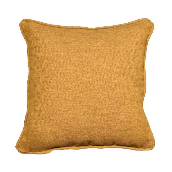 mustard tartan scatter cushion