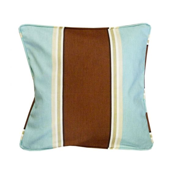 Wessex Striped Duck Egg Scatter Cushion