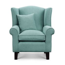 Duck Egg Blue Fabric Wingback Chair Sloane Amp Sons