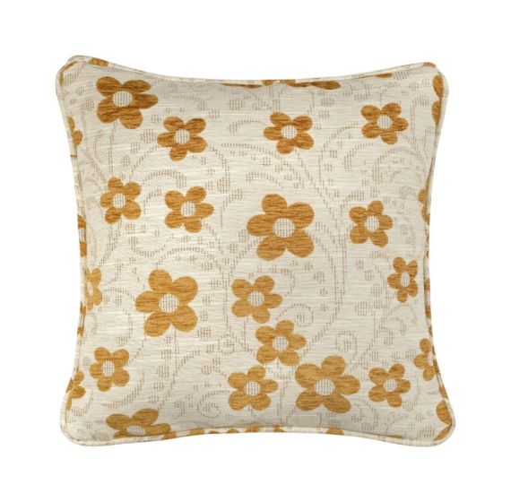 Mustard Yellow Floral Woodstock Scatter Cushion