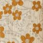 Mustard Yellow Floral Woodstock Fabric Swatch
