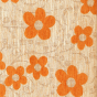Orange Floral Woodstock Scatter Cushion Fabric Swatch