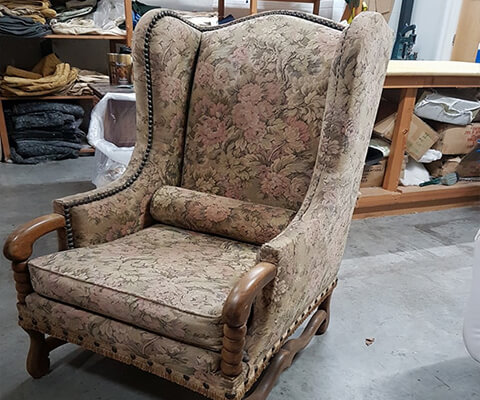Upholstery Service Before